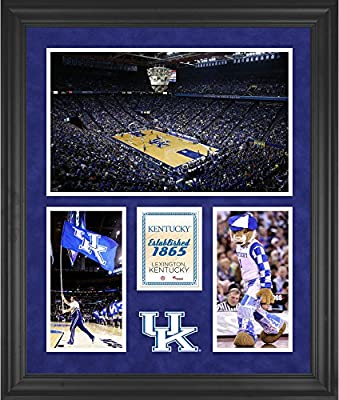 """Kentucky Wildcats Commonwealth Stadium Framed 20"""" x 24"""" 3-Opening Collage - Fanatics Authentic Certified"""