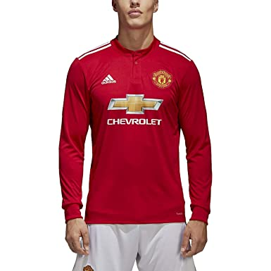 ad7e2744d1c adidas Men s Soccer Manchester United FC Home Jersey Long Sleeve (S) Red