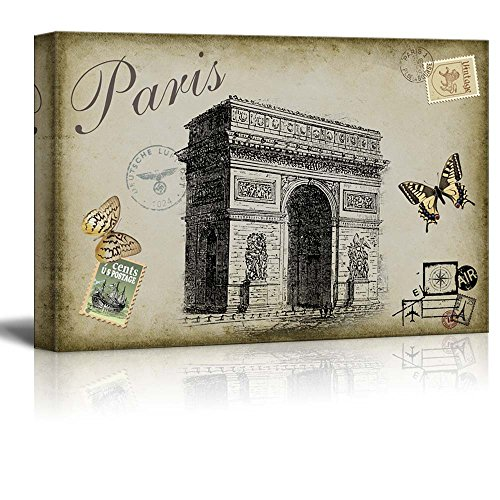 Accents of Paris Placed onto a Vintage Background