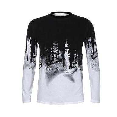 Hombre Hombre Camiseta Casual Delgado 47df43ef6c1