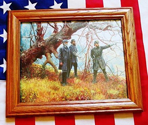 Civil War Painting. Manassas, Robert E Lee, Stonewall Jackson, Longstreet - Civil Paintings War