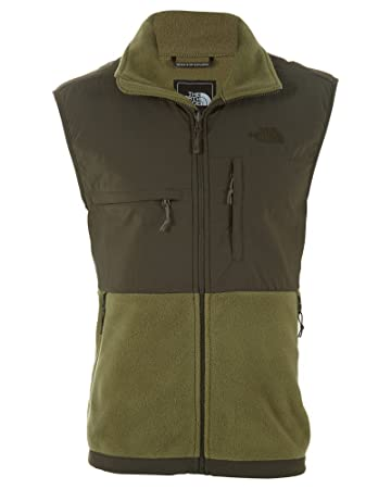 The North Face Denali Vest Men's Recycled Burnt Olive Green/Black Ink Green  S