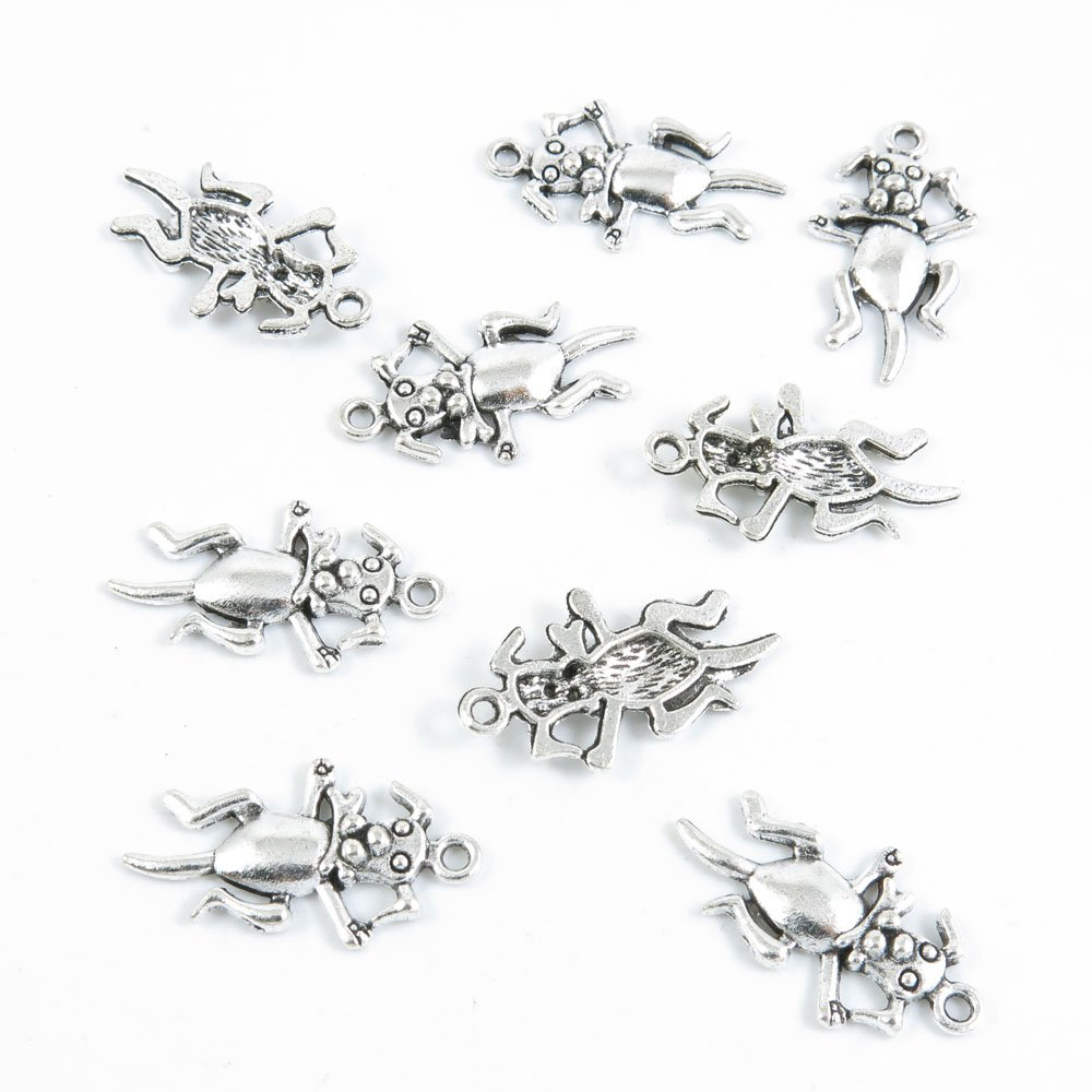 1060 Pieces Antique Silver Tone Jewelry Making Charms Supply Wholesale G8XD6 Pet Dog Puppy