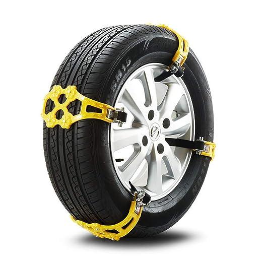 YXMxxm Neumático Antideslizante para automóviles Cadena de Nieve para Cadenas, 8 Piezas Cadenas Antideslizantes universales para Nieve para ...
