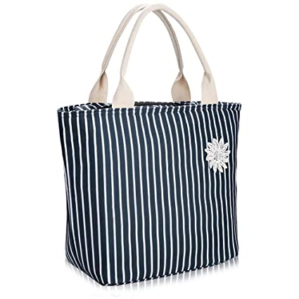 Amazon.com  VARANO Insulated Lunch Bag Lunch Box for Women Reusable ... 2d0fcddfed