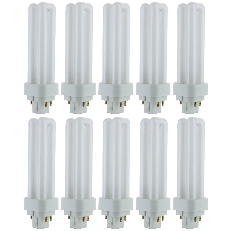 Sunlite PLD13/E/SP50K 13-Watt Compact Fluorescent Plug-In 4-Pin Light Bulb, 5000K Color