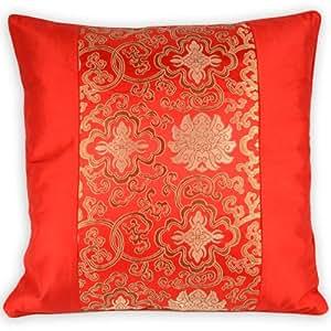 Amazon Com Silky Decorative Embroidered Oriental Cushion