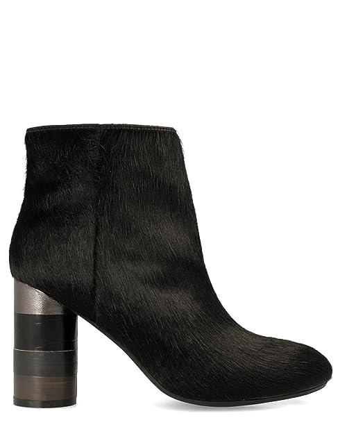 Botin tacon piel de Gioseppo (40 - Negro): Amazon.es: Zapatos y complementos