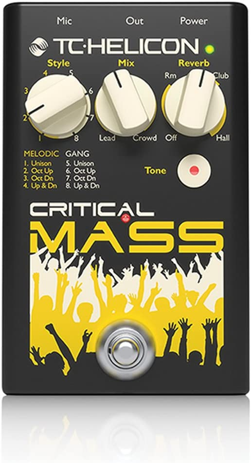 TC Helicon masa crítica Vocal Stomp Box para grandes group-sound efectos