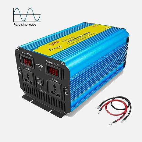 Spannungswandler 1000W//2000W Wechselrichter Inverter 12V auf 230V 3A USB LCD CAR