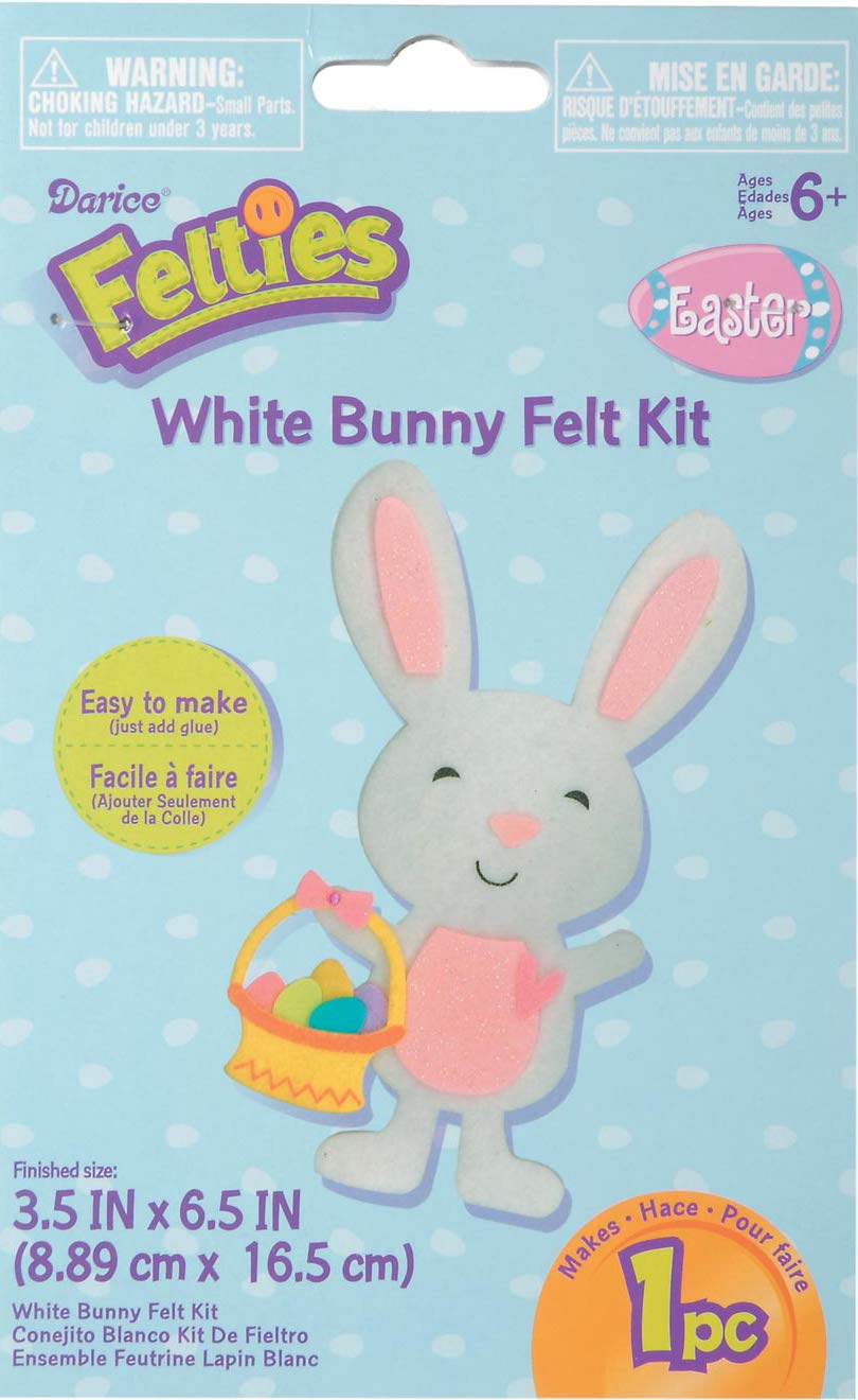 1 Chick Superior Home Arts 35-Pieces Foamies Easter Craft Kits for Kids with Foam Stickers Bundle of 3 Spring Projects 1 Egg 1 Bunny