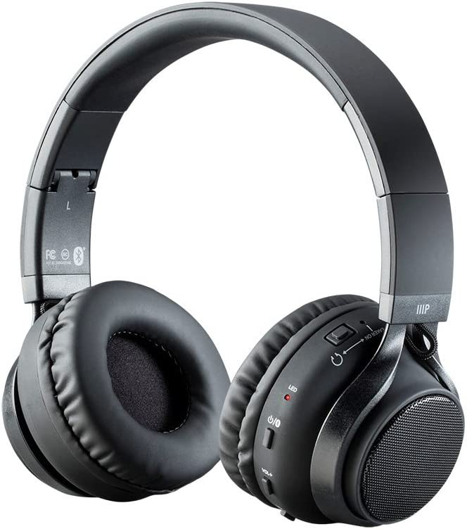 Monoprice 2-in-1 Bluetooth Wireless Headphones with External Speakers, Superior Hi-Fidelity Sound, Up to 32 Hours