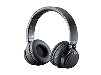 8c7807c48fa Monoprice 2-in-1 Rechargeable Bluetooth Wireless Headphones - Black with  External Speakers Microphone