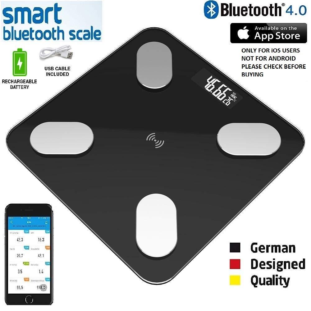 BODY FAT SCALE DEL Bluetooth APP Android IOS numérique portable Poids machine