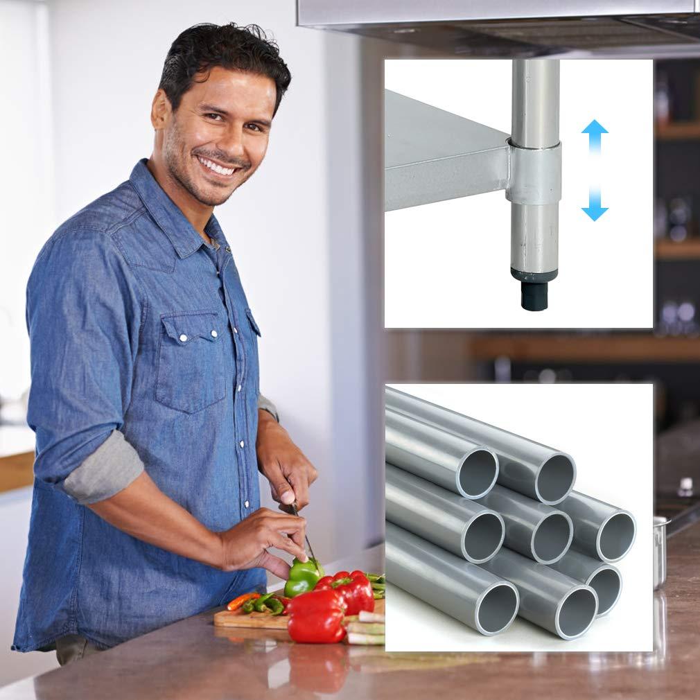 Amazon.com: Mesa de trabajo de metal para cocina ...