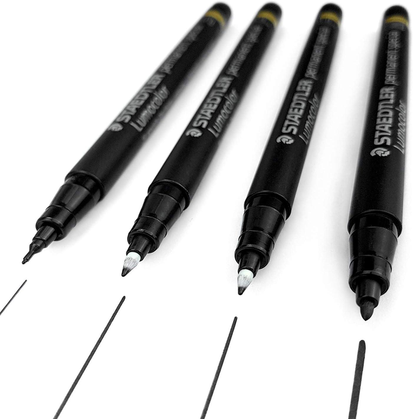 13 Staedtler Lumocolor Permanent Special Marker Pen Black – Pack of 10 ...