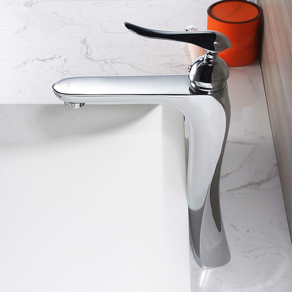 B LXKY Faucet - all copper basin faucet single hole hot and cold, countertop washbasin faucet,B