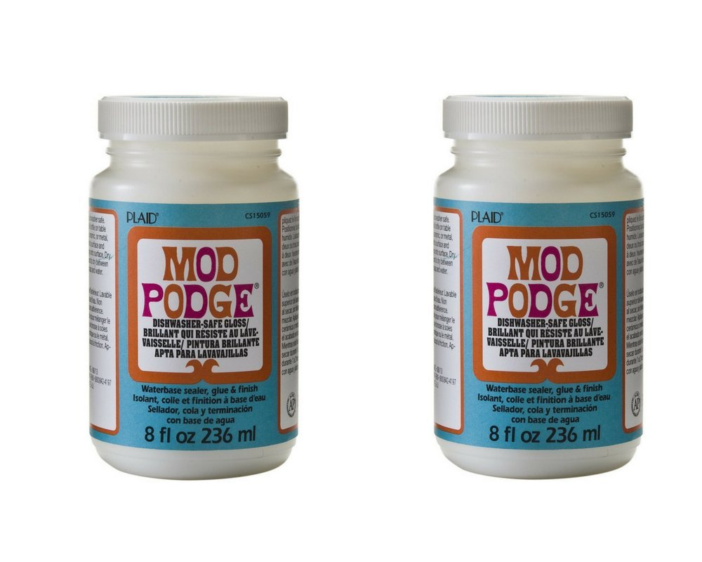 Mod Podge Dishwasher Safe Waterbased Sealer, Glue and Finish (8-Ounce), CS15059 Gloss (2-Pack)