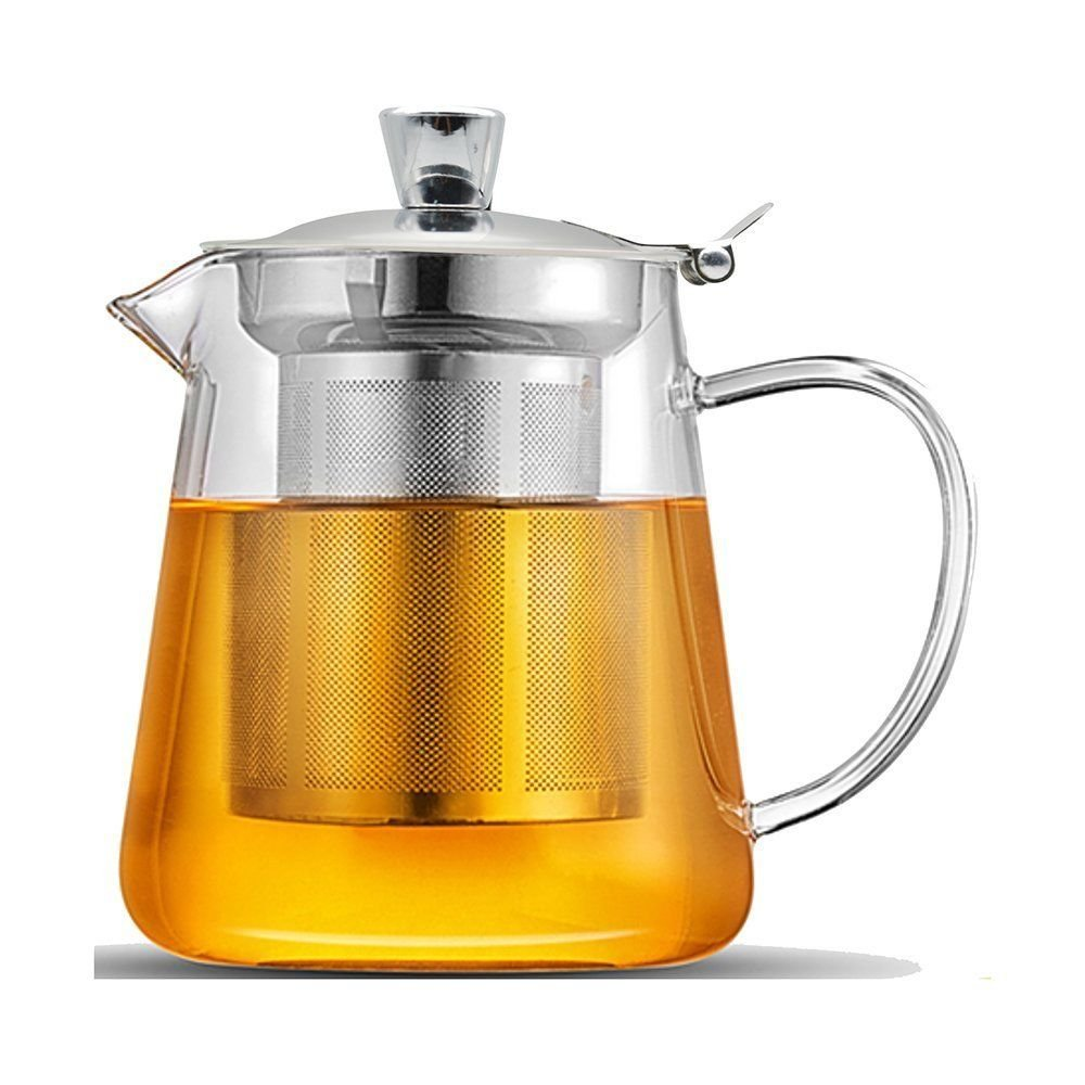 26 oz Borosilicate Glass Teapots with Stainless Steel Infuser and