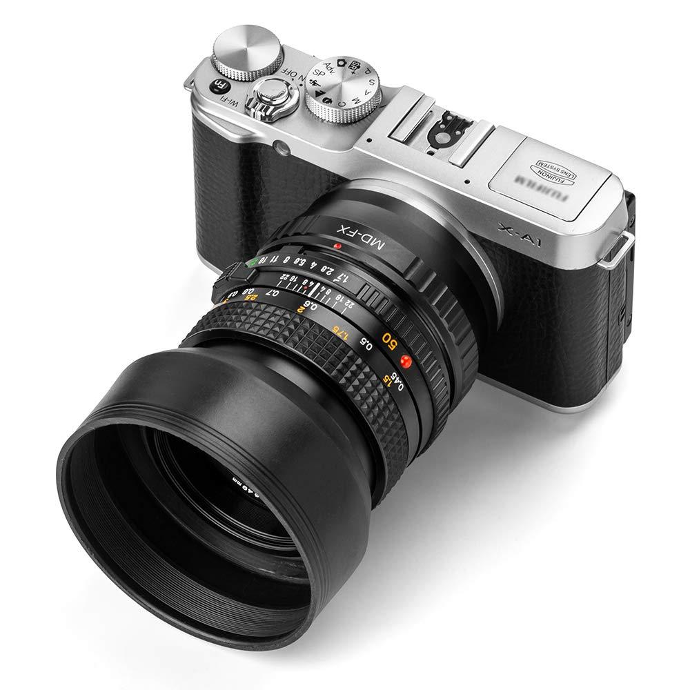 Parasol Universal de Lente de Metal con Lente Central de Pinza para Canon Nikon Sony Pentax Olympus Fuji Fotover pa/ño de Limpieza de Microfibra