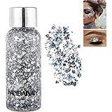Body Glitter Gel Mermaid Scale Sequins Skin Long Lasting Sparkling Cream Eyeshadow Lip Nail Hair Painting Glitter Decorate Ar