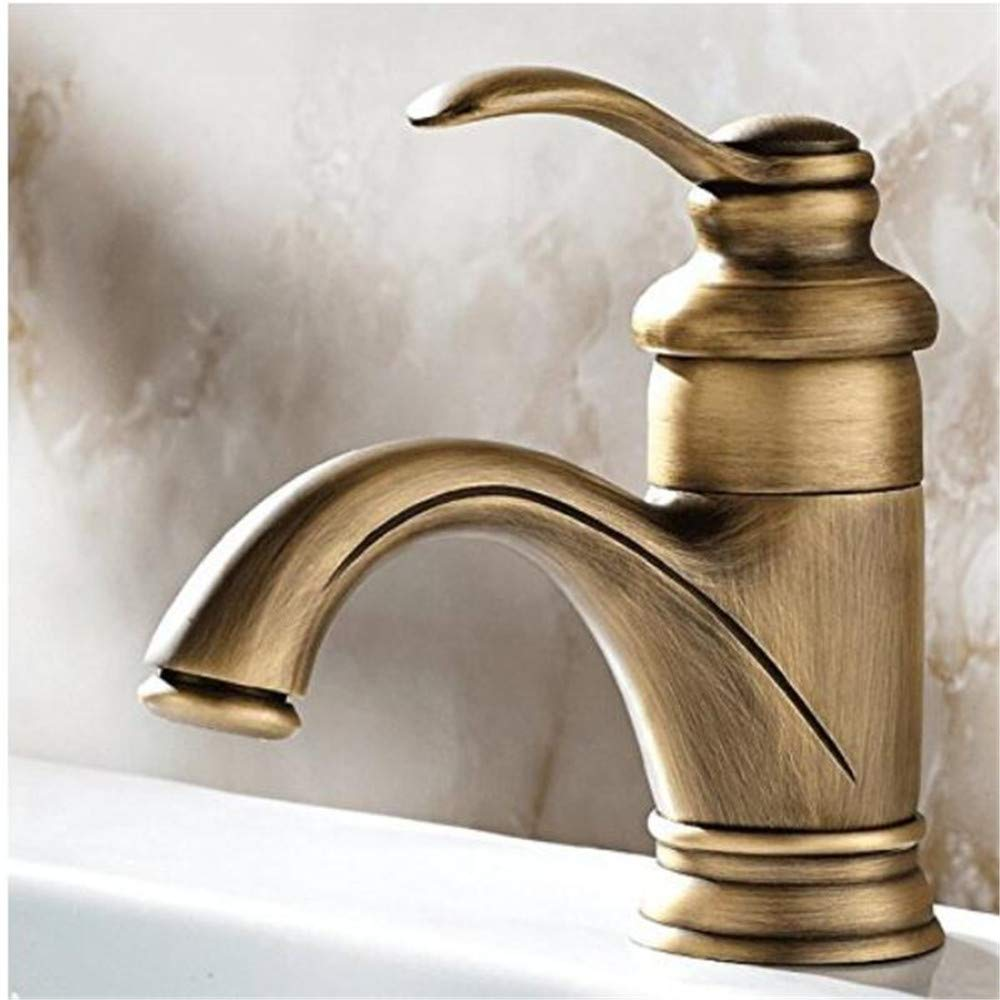 Chrome Kitchen Sink Taptap Retro Antique European Style Sink Tap All Copper Toilet, Basin Mixer Tap Sink Basin Faucet Hot and Cold