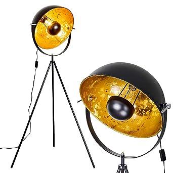 En De Jour Noir Or Projecteur Et Cm Lampadaire 43 Ampoule Avec Orientable Moderne DiamètrePour Un Abat E27 Une Max40 Saturn Métal WattStyle vnmN0w8O