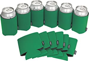 Koozie Can Cooler Blank Foam Sleeve Bottle Holder - authentic insulators Great for DIY Projects for Wedding, Bachelorette Party, Birthdays - Pack of 12 (Green, 12)