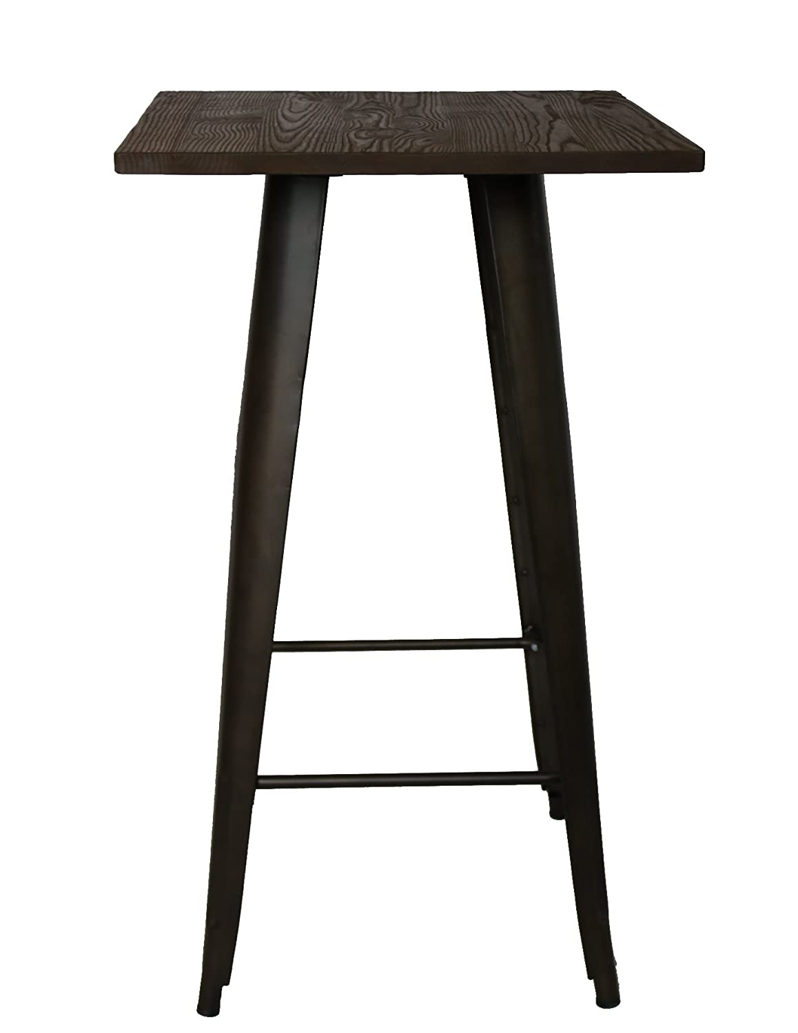 Pleasing Btexpert Industrial Antique Copper Bronze Distressed Rustic Steel Metal Dining Table With Wood Top Restaurant Squirreltailoven Fun Painted Chair Ideas Images Squirreltailovenorg