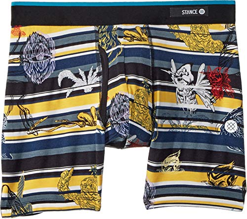 Stance Men's New Mythology Butter Blend Boxer Brief Underwear (Yellow, X-Large)