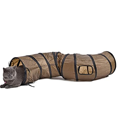 PAWZ Road S Shape Larger Cat Tunnel Juguete Plegable para Gato con 2 Maneras y 2