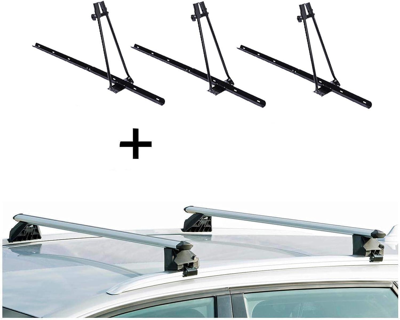VDP 3xFahrradtr/äger Orion Relingtr/äger CRV107A kompatibel mit FIAT Tipo Kombi 5 T/ürer ab 2016