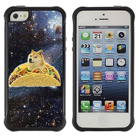 ZAKO Cases / Apple Iphone 5 / 5S / Space Taco Doge Dog Shiba / Rugged Shock-Proof Slim Armor Cover (Doge Phone Cover)