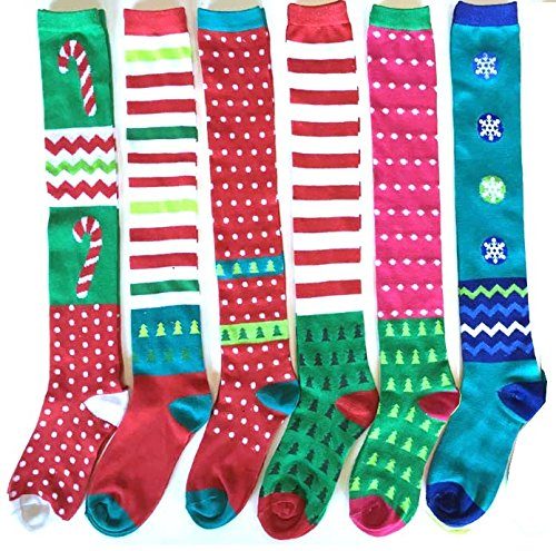 DDI 1980997 Christmas Knee High Socks44; Case of 48 from D&D