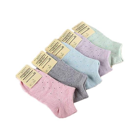 calcetines de la mujer de la mezcla de 5 pares cortos lindos calcetines de algodón de