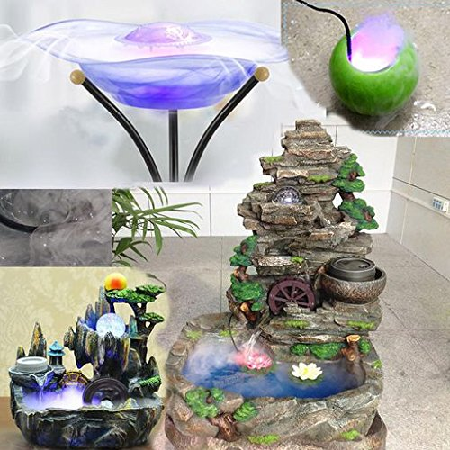 Morrivoe 12LED Mist Maker Fogger Atomizer Water Fountain Fish Pond Fog Machine Aquarium Air Humidifier