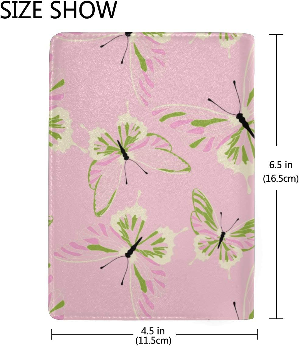 Small Cute Wild Fashionable Flowers Blocking Print Passport Holder Cover Case Travel Luggage Passport Wallet Card Holder Made With Leather For Men Women Kids Family