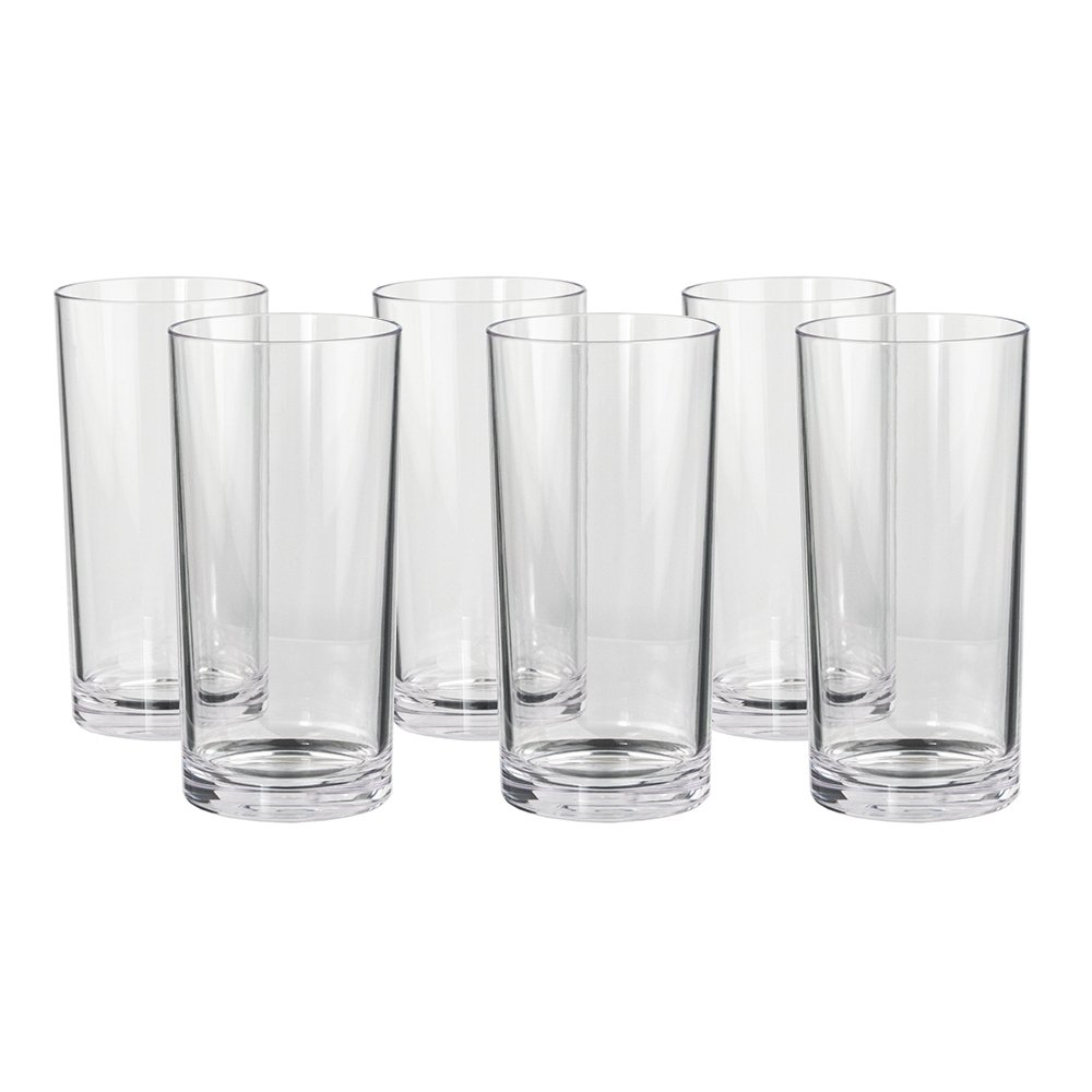 Classic 16-ounce Premium Quality Plastic Water Tumbler | Clear Set of 6 by US Acrylic (Image #6)