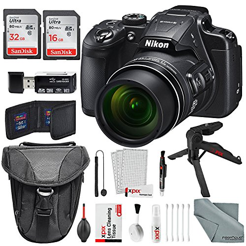 Nikon COOLPIX B700 4K Wi-Fi Digital Camera, with Total of 48GB along with Deluxe Bundle and Xpix Cleaning Accessory Kit by Xpix