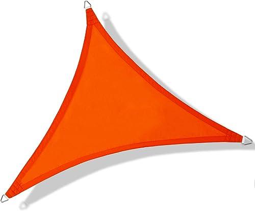 NAKAMORY Sun Shade Sail Waterproof 95 UV Block Triangle Size for Outdoor Garden Patio Backyard 20 20 20 , Orange