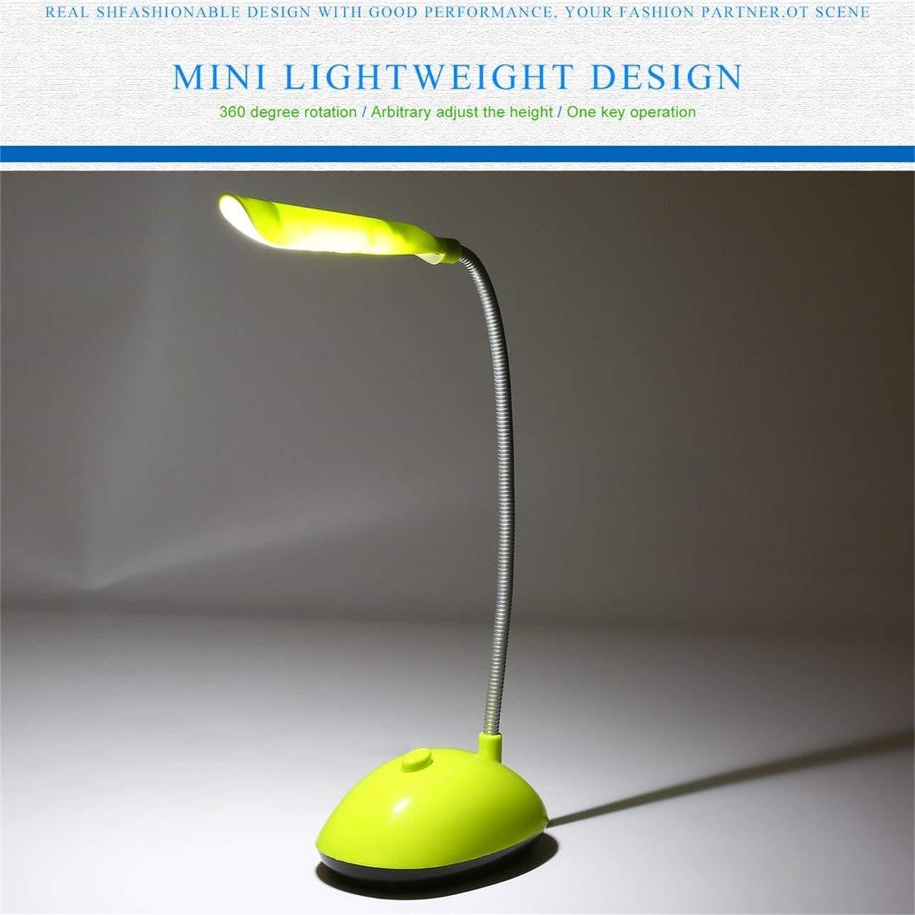 Pudincoco Mode Vent ultra-lumineux LED bureau lumi/ère /économique AAA livre /à piles livre lampe de lecture avec tube flexible PY-X7188