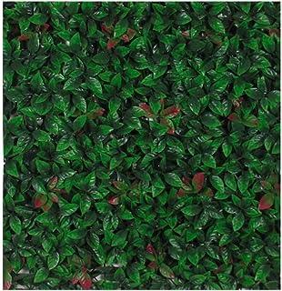Verdevip Photinia Fotinia Siepe Artificiale Finta Da Esterno Per Balcone Recinzione - 01 Mattonella da 50x50 cm (0,25 mq) - Resistente Ai Raggi U.V. Certificato TUV