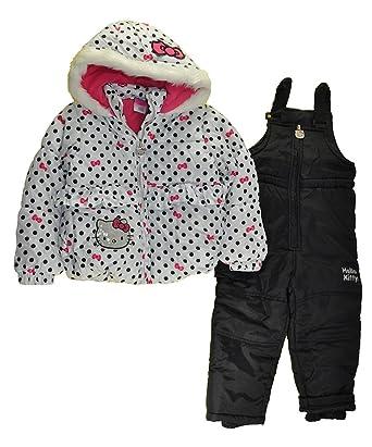22f729861 Amazon.com  Hello Kitty Girls Snowsuits  Clothing