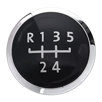R SODIAL 58935 Gear Knob Emblem 5 Speed Cap Decal Trim Badge