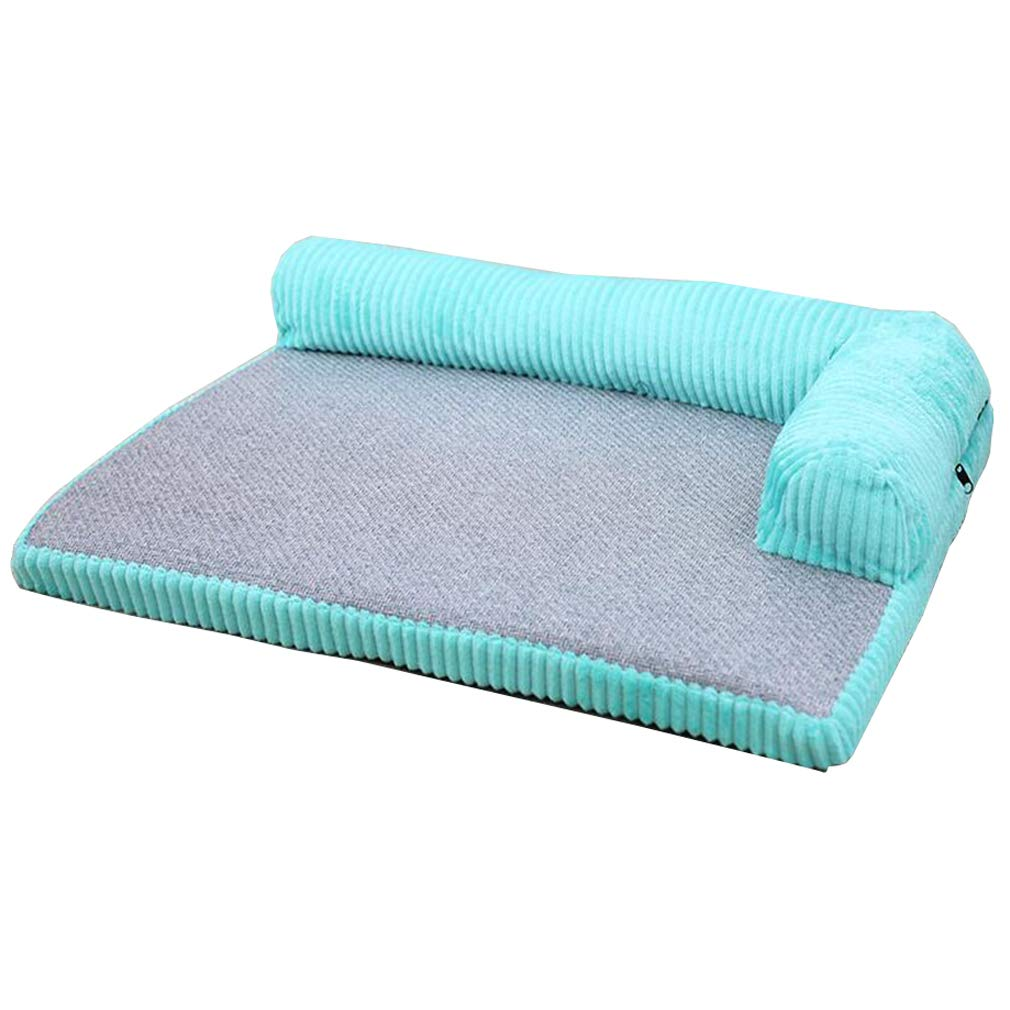 bluee SCUUYQ Deluxe pet beds, Cozy Dog & cat beds Soft pad Pet bed Washable Pet cushion Nonslip For dogs & cats,Pink_L