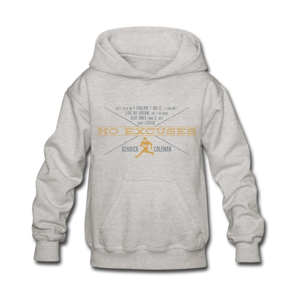 ATHLETE ORIGINALS Little Boys Hoodie No Excuses The Quote The Belief The Drive by Derrick Coleman