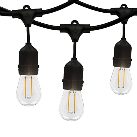 Amazoncom LED Outdoor Indoor Edison Style String Lights 48ft