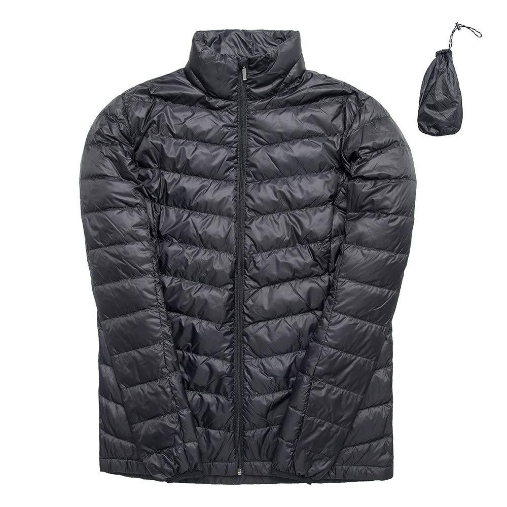 Gensen Womens Lightweight Down Jacket//Packable with Travel Bag//Water-Resistant Heat Reflective Technology Ultra Lightweight