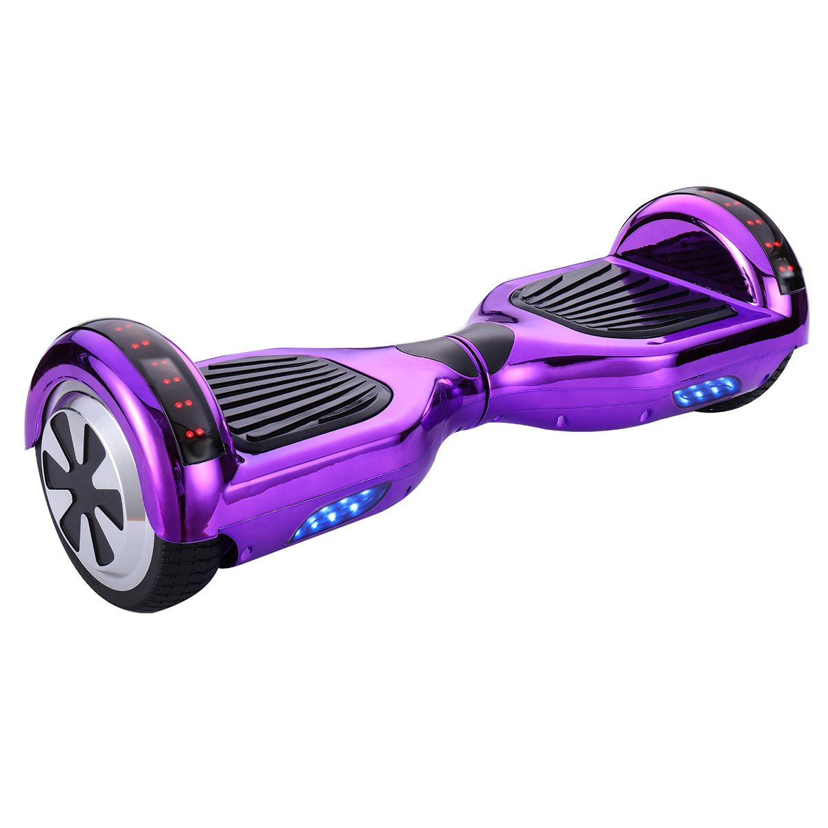 CXInWalk Hoverboard UL 2272 Certified 6.5'' Bluetooth Speaker with LED Light Self Balancing Wheel Electric Scooter, Chrome Purple by CXINWALK