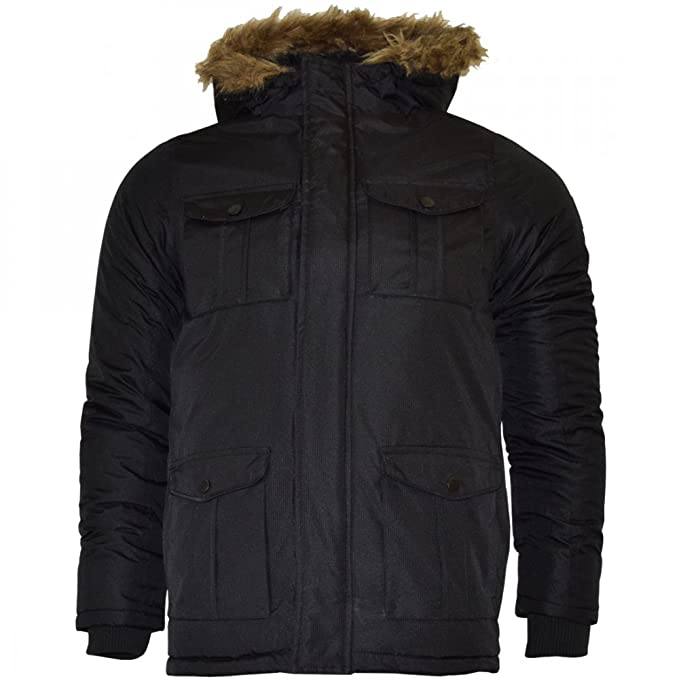 Bambina: abbigliamento Cappotti e giacche Brave Soul Ragazze Parka Imbottito Con Cappuccio in Pelliccia Sintetica Giacca Invernale Cappotto Scuola